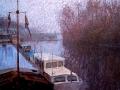 herebrug in de mist - groningen