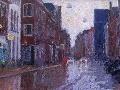 oude boteringestraat in de regen - Groningen