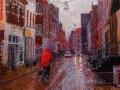 oude boteringestraat in de regen