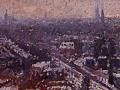 skyline stad groningen in de winter - voorstudie