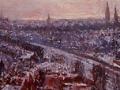 skyline stad groningen in de winter