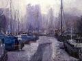 noorderhaven in de mist