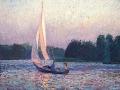 zeilbootje op het paterswoldse meer