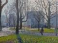 Hereplein in vroeg voorjaar klein