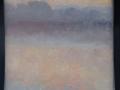 reflectie 2 ( ochtend nevel Reitdiep) 10 x 10 cm