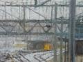 Station in de sneeuw