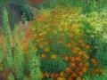 Tuin-met-Afrikaantjes-en-Dahlias-100-x-100cm-klein