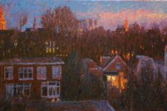 Skyline Groningen (2 van tweeluik), 50 x 100 cm, 2006