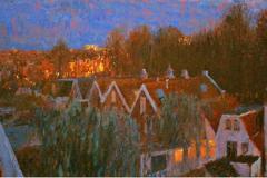 Skyline Groningen (1 van tweeluik), 50 x 100 cm, 2006
