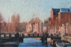 Zicht op Oude Kijk in t Jatbrug, 50 x 100 cm, 2021 *