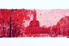 25 Vismarkt - 8 kleurendruk op hand geschept zuurvrij papier